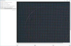 Интерфейс утилиты для коррекции дисторсий сканаторов TriCorrection